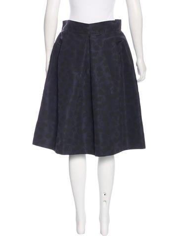 oscar de la renta patterned a line skirt clothing