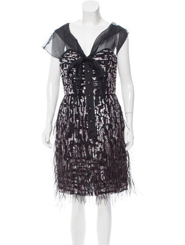 Oscar de la Renta Embellished Cocktail Dress None