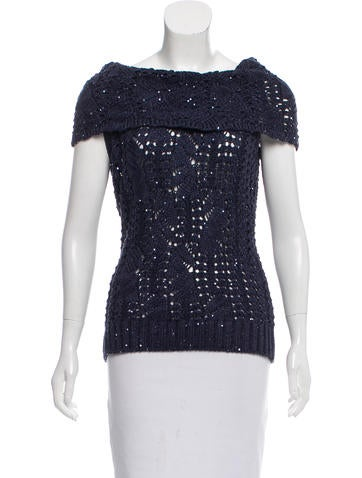 Oscar de la Renta Embellished Silk Top w/ Tags None
