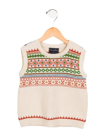Oscar de la Renta Boys' Fair Isle Wool Vest None