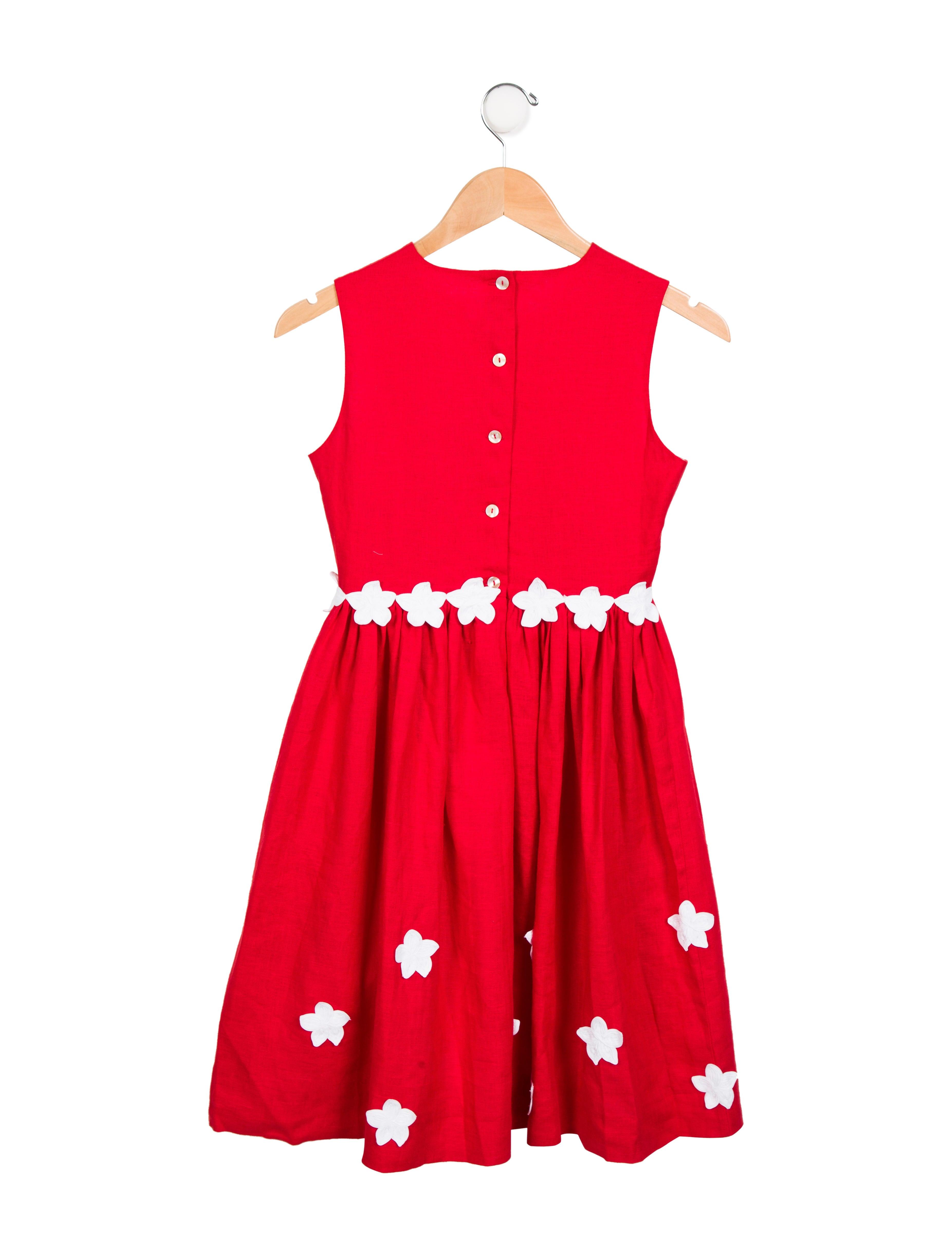 Oscar de la renta girls 39 linen sleeveless dress girls for Oscar de la renta candles