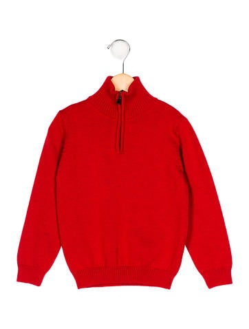 Oscar de la Renta Boys' Merino Wool Mock Neck Sweater None