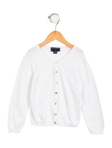 Oscar de la Renta Girls' Button-Up Cardigan None