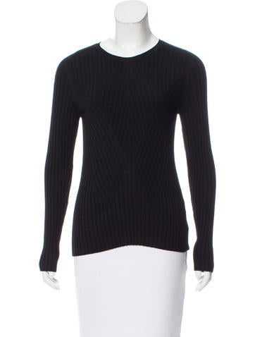 Oscar de la Renta Wool Long Sleeve Top None