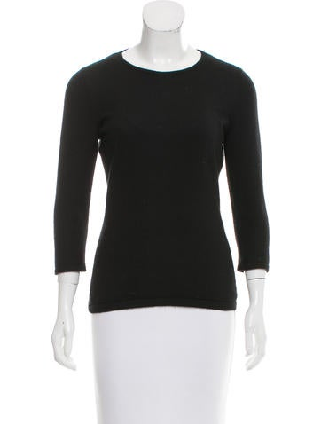 Oscar de la Renta Knit Crew Neck Sweater None