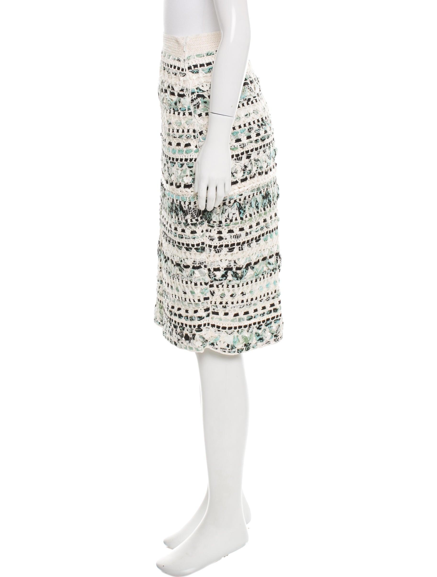 Oscar de la renta hand knit pencil skirt clothing for Oscar de la renta candles
