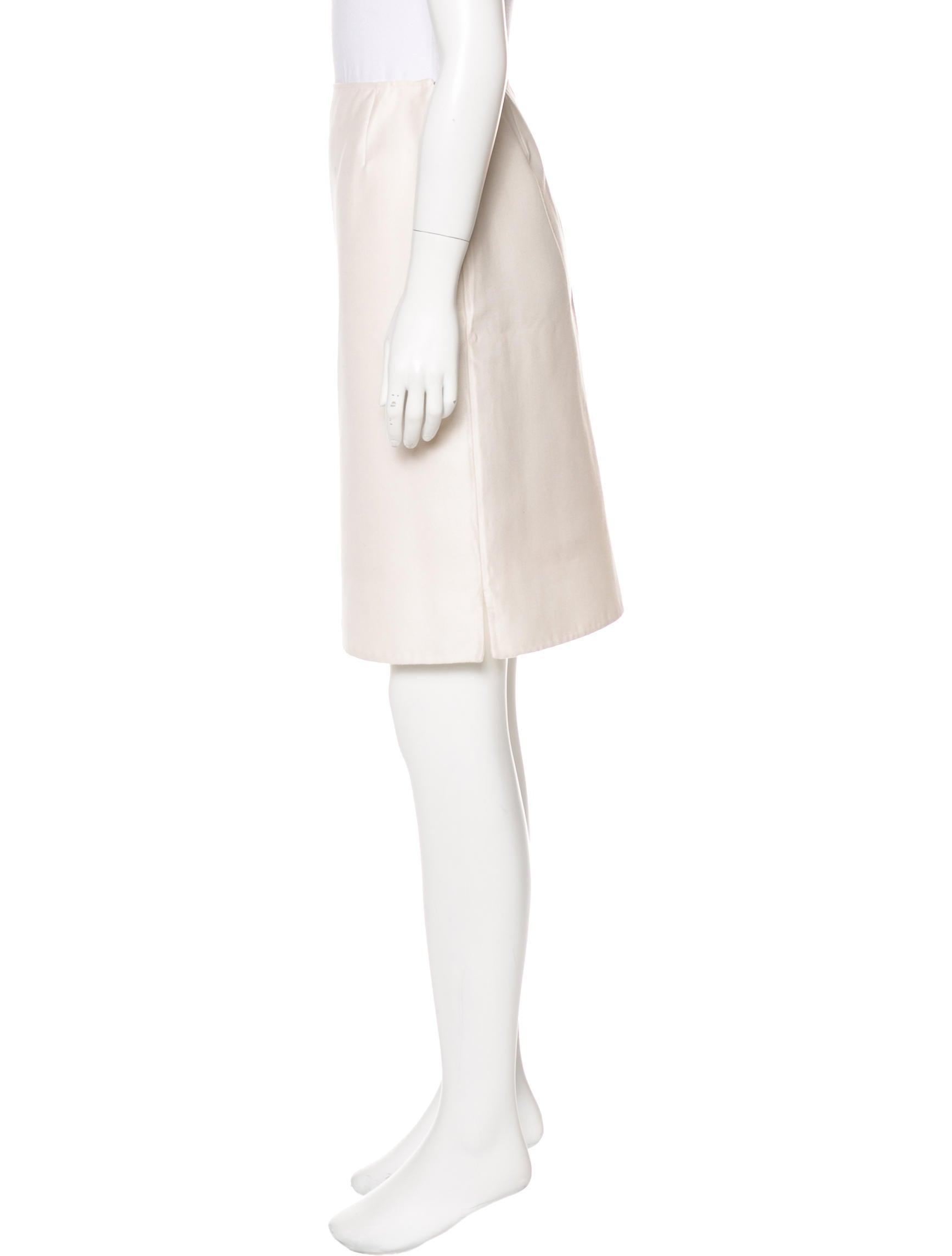 oscar de la renta a line knee length skirt clothing
