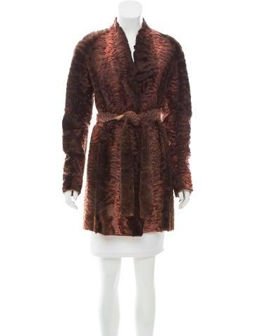Oscar de la Renta Persian Lamb Short Coat None