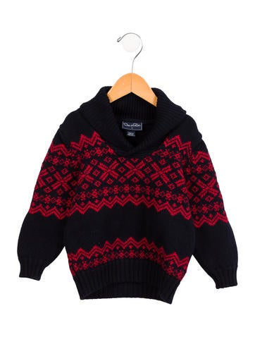 Oscar de la Renta Boys' Wool Fair Isle Sweater None