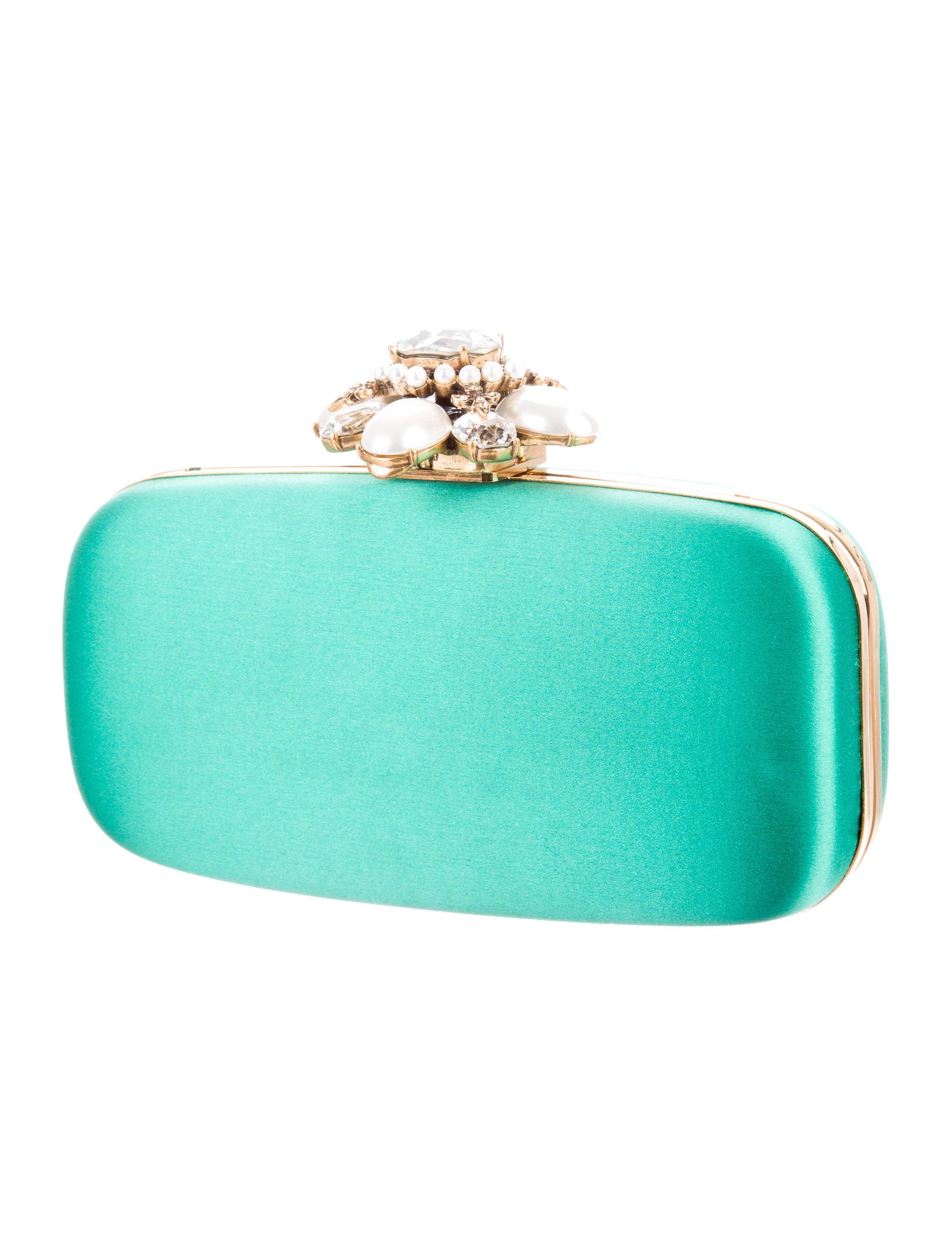 Oscar de la renta embellished satin clutch handbags for Oscar de la renta candles