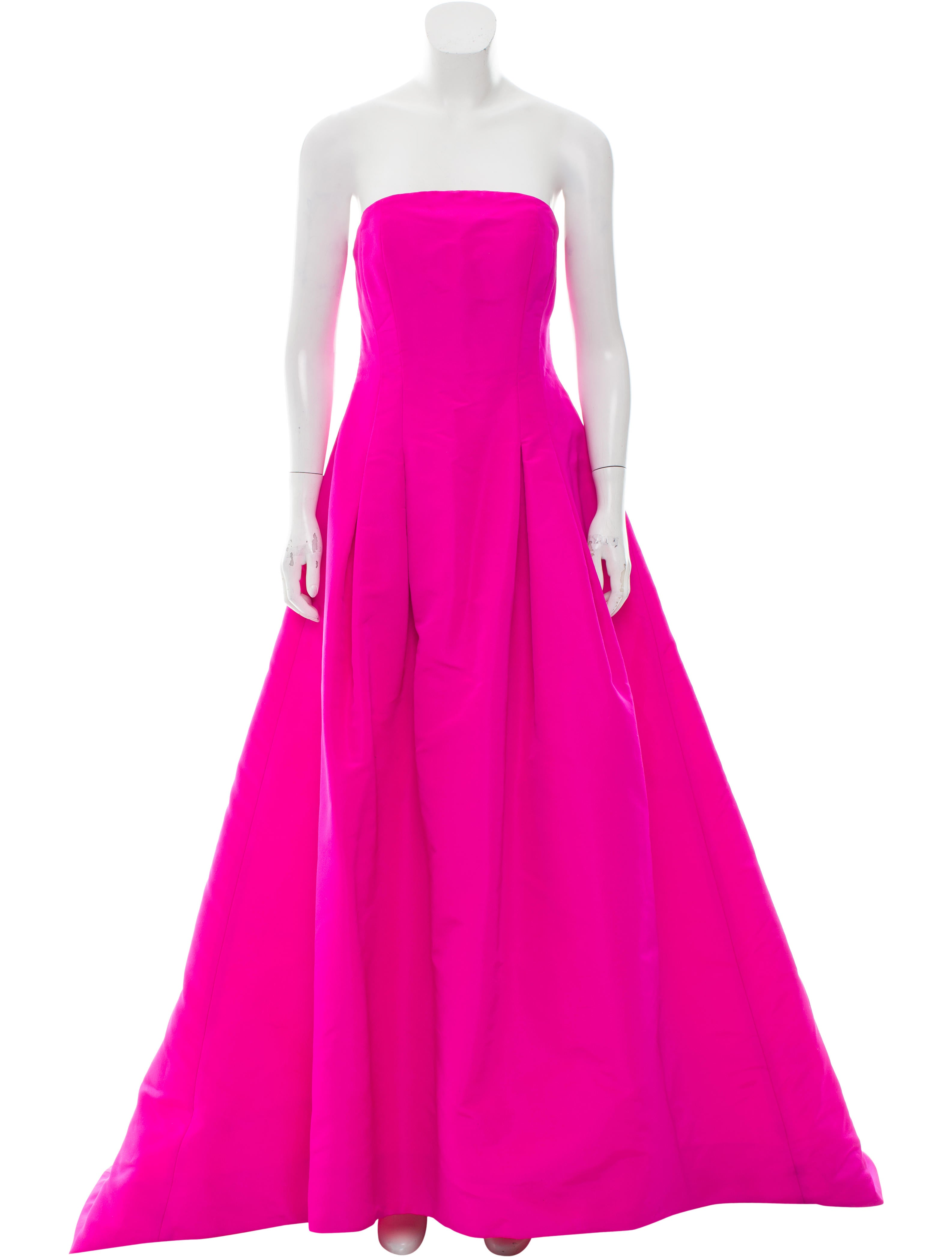 Oscar de la renta pre fall 2015 silk strapless gown for Oscar de la renta candles
