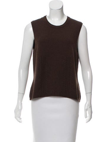Oscar De La Renta Sleeveless Cashmere Sweater 15 on oscar de la renta sweater men s brown