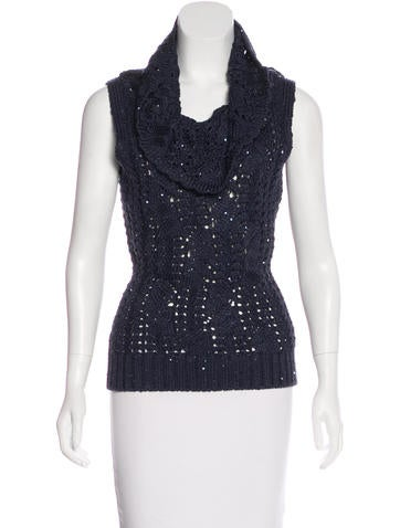 Oscar de la Renta Embellished Sleeveless Top None