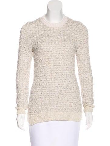 Oscar de la Renta Metallic Knit Sweater None