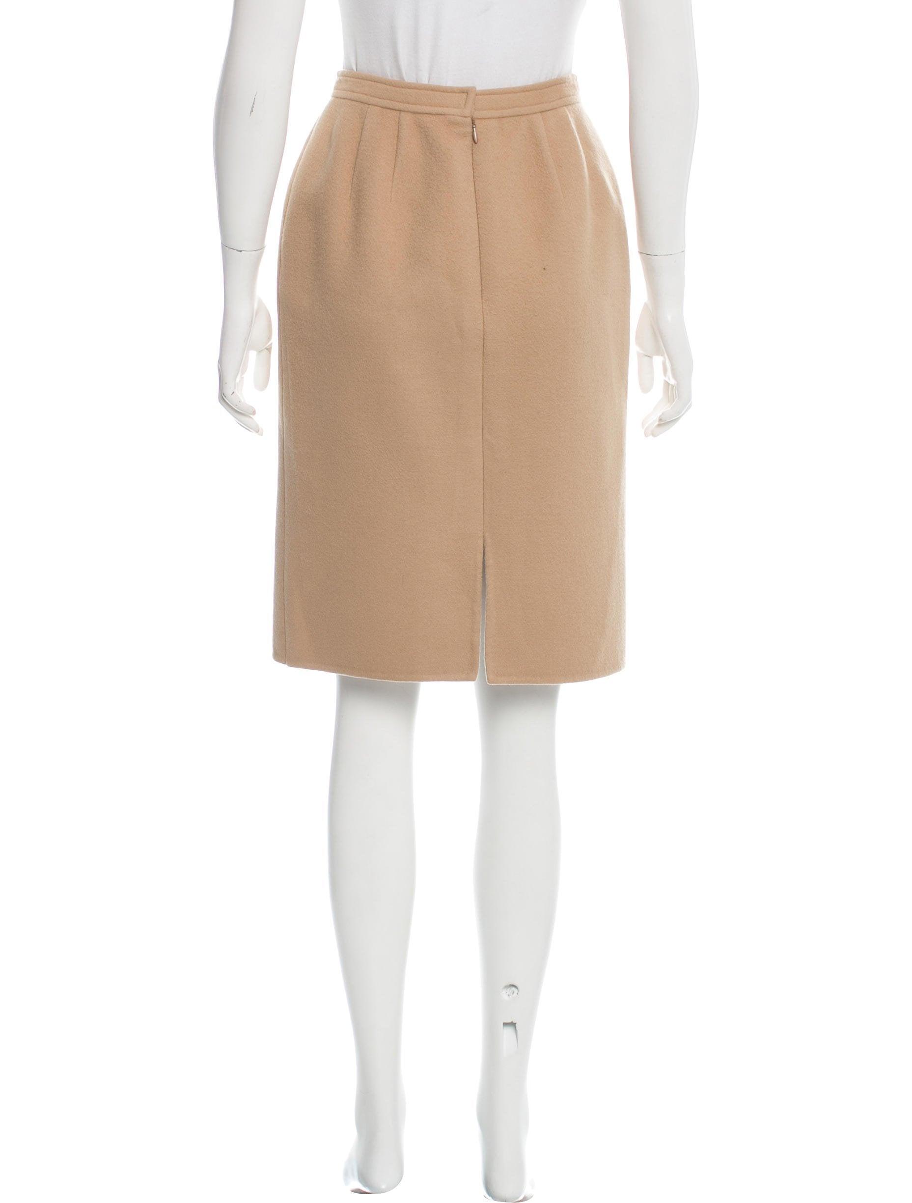 oscar de la renta wool pencil skirt clothing osc62190