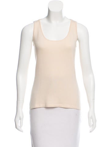 Oscar de la Renta Cashmere Sleeveless Top None