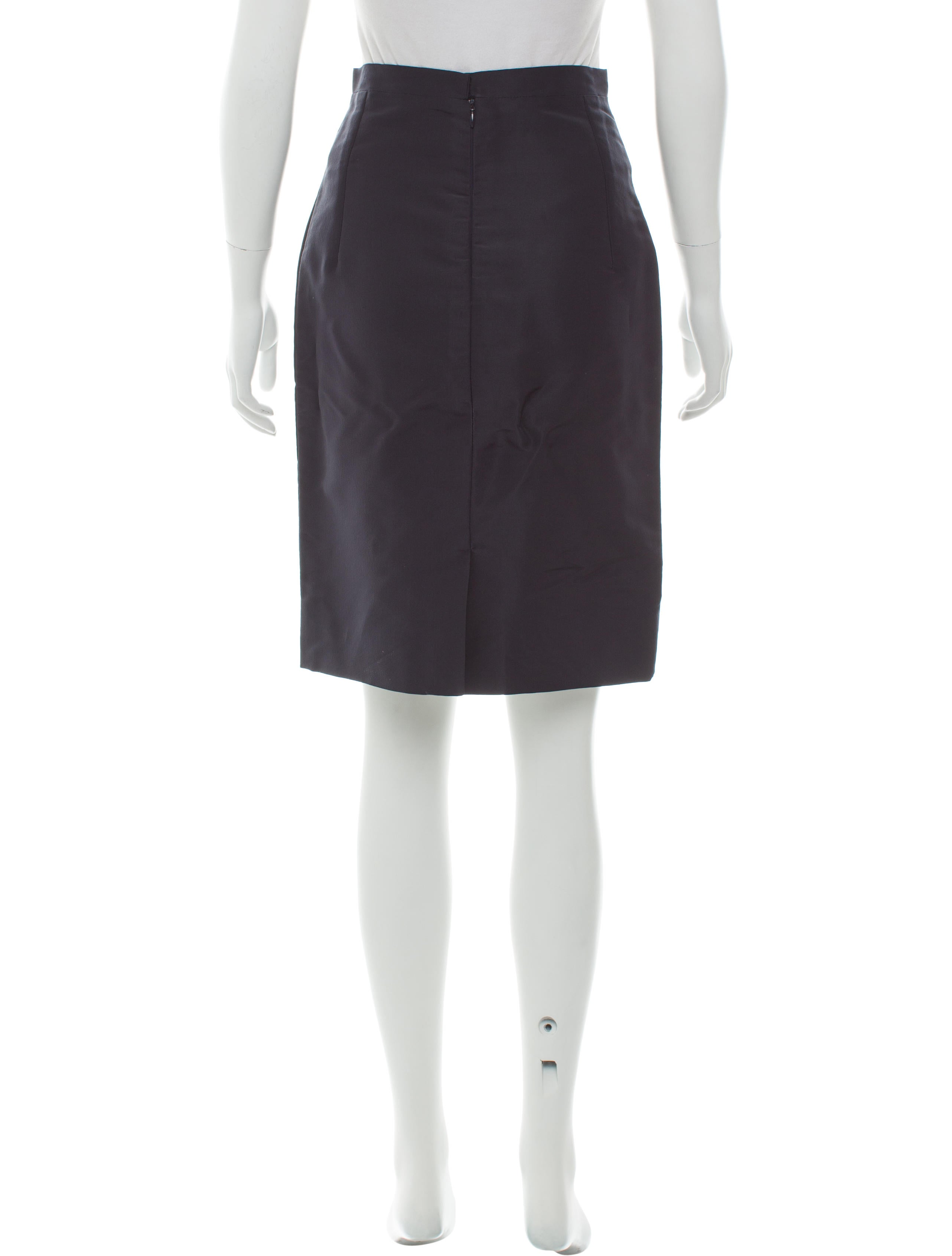 oscar de la renta satin pencil skirt clothing osc62506