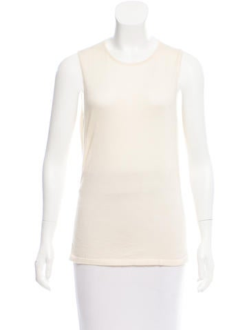 Oscar de la Renta Silk-Cashmere Sleeveless Sweater None