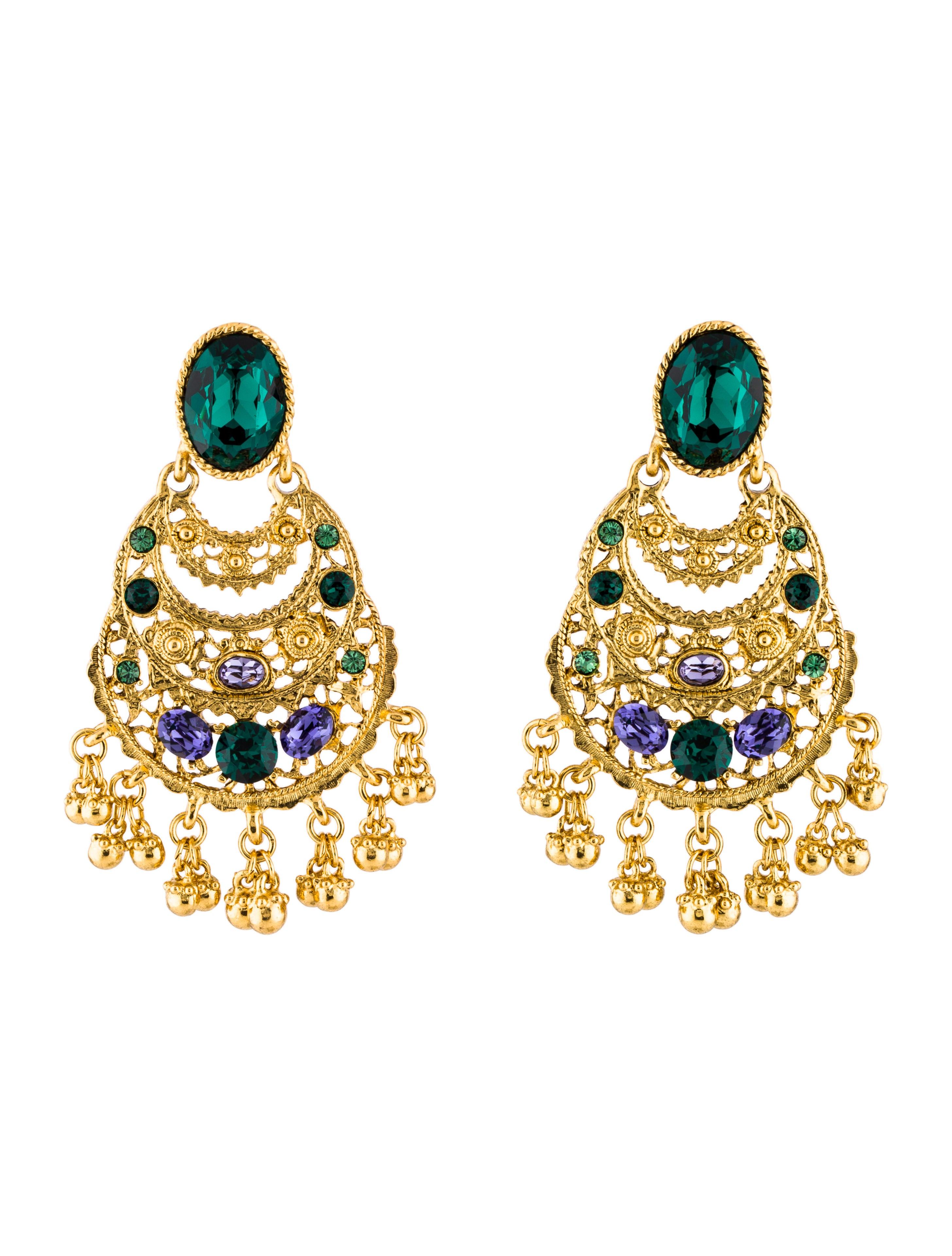 Oscar de la renta crystal drop earrings earrings for Oscar de la renta candles