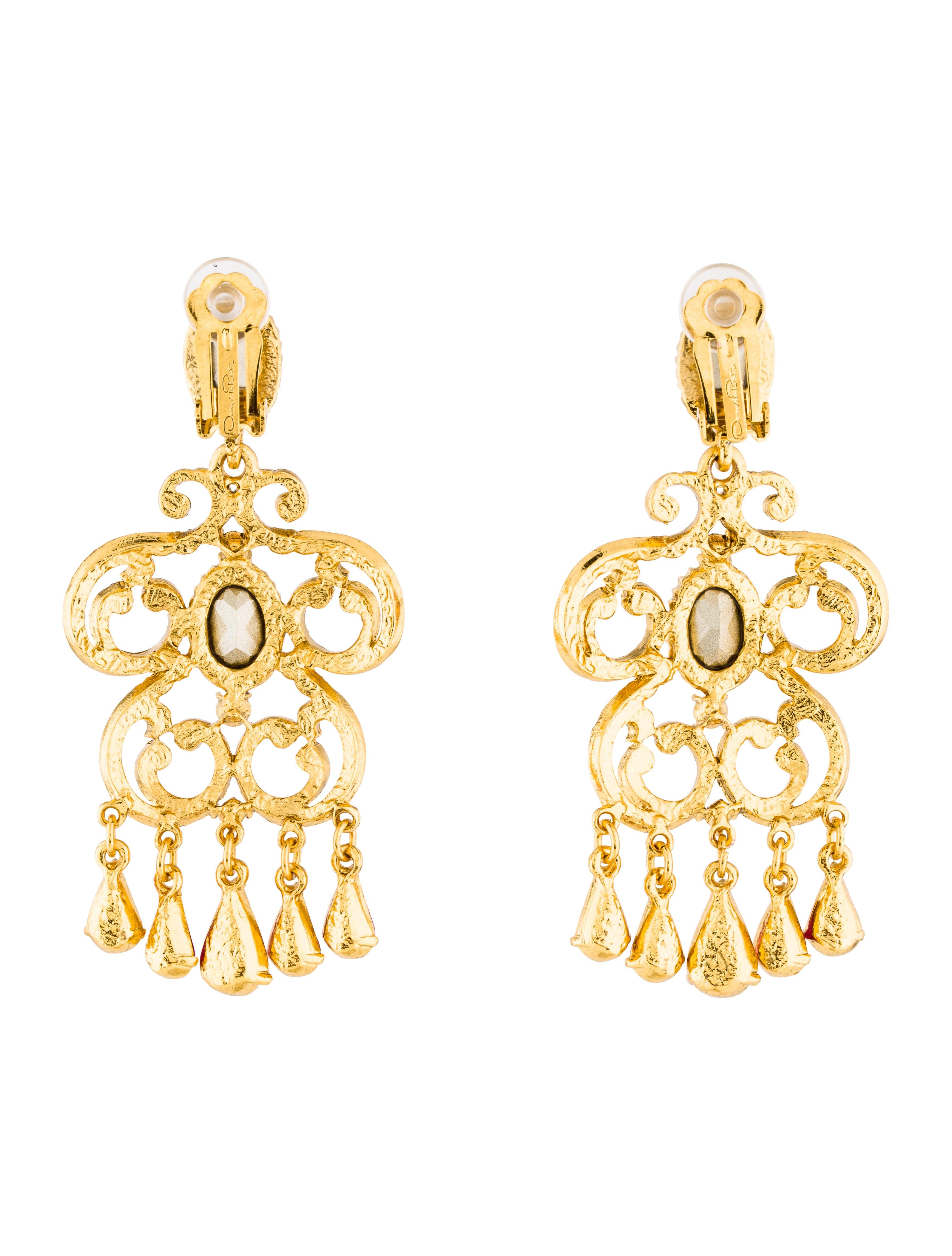 Oscar de la renta crystal chandelier earrings earrings for Oscar de la renta candles