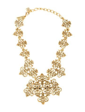 Oscar de la renta filigree bib necklace necklaces for Oscar de la renta candles