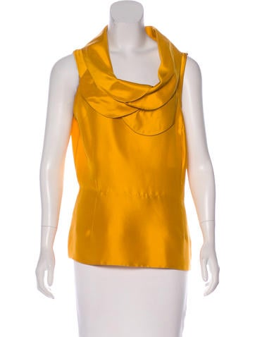 Oscar de la Renta Sleeveless Silk Top None