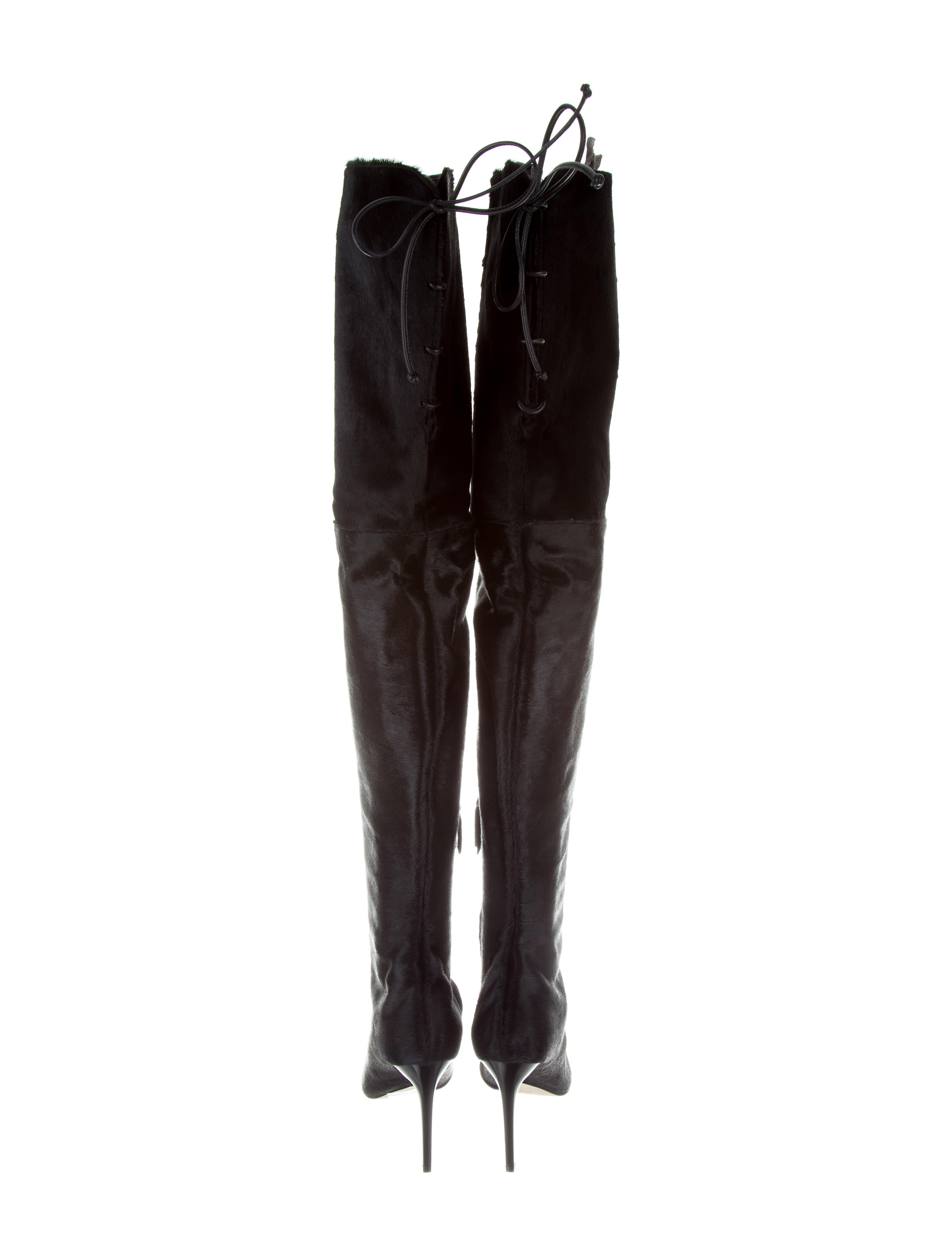 cheap sale get to buy sale limited edition Oscar de la Renta Ponyhair Over-The-Knee Boots w/ Tags footlocker cheap online ifBnSd4fI