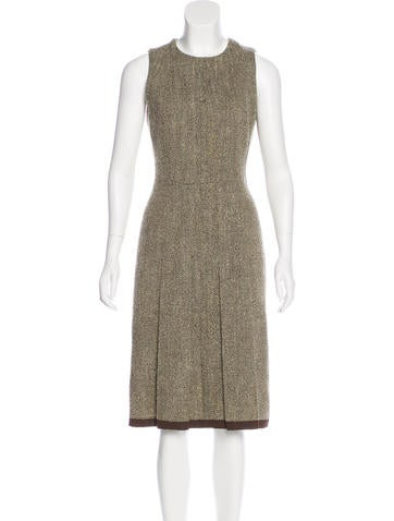 Oscar de la Renta Wool A-Line Dress None