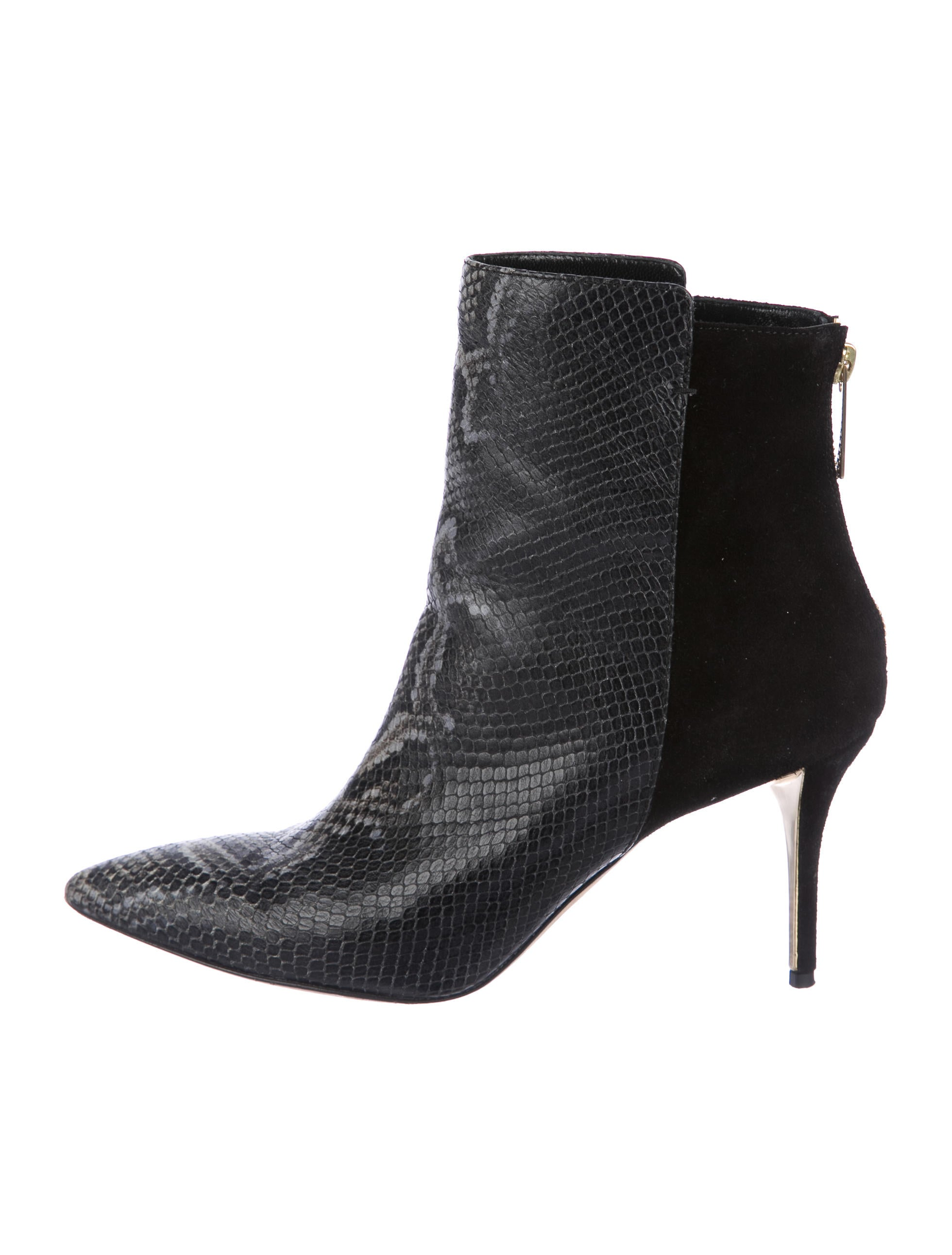 Oscar de la Renta Leather Embossed Ankle Boots buy cheap pay with visa discounts sale online oK0Ehoh