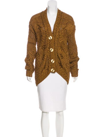 Oscar de la Renta Knit Silk Cardigan None