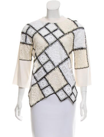 Oscar de la Renta 2016 Wool Sweater w/ Tags None
