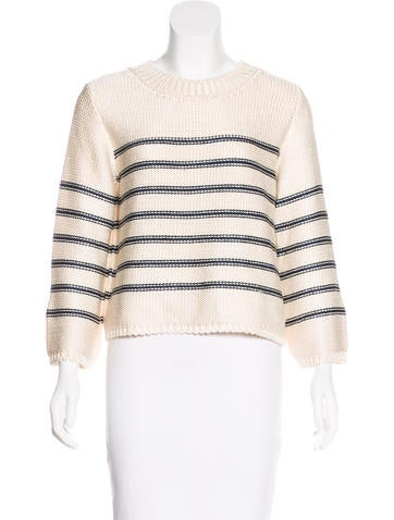 Oscar de la Renta Silk Knit Sweater None