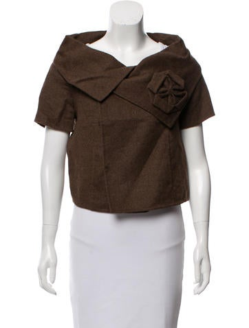 Oscar de la Renta Wool & Angora Double-Breasted Jacket None