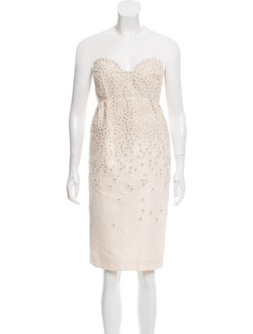 Embellished Strapless Dress w/ Tags