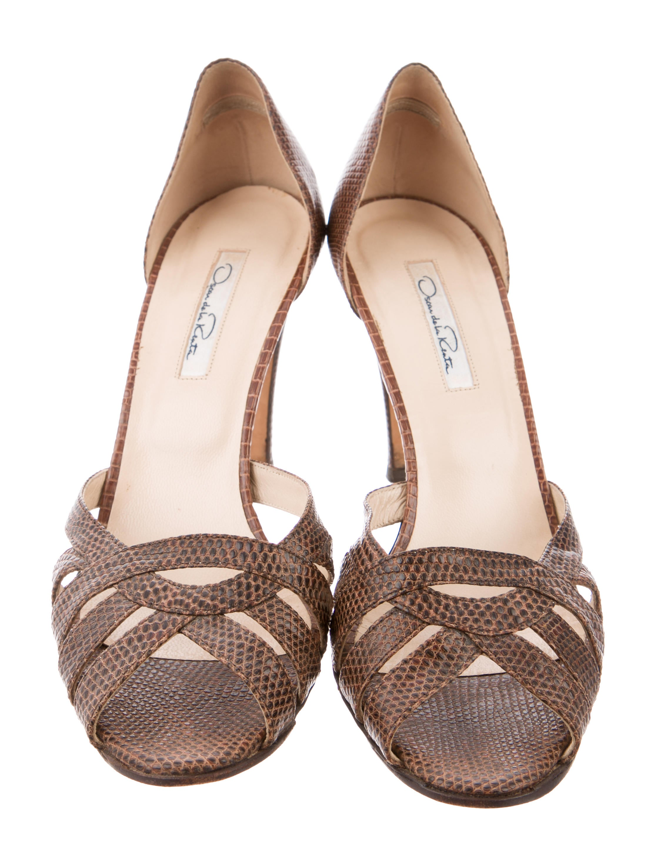 Oscar de la Renta Karung Cutout Sandals limited edition cheap price free shipping best 100% original cheap online excellent online Inexpensive NjZeJg