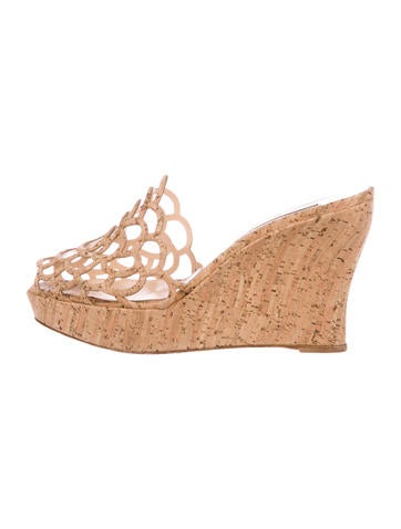Scalloped Wedge Sandals