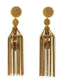 f95418a0b Oscar de la Renta. Chain Tassel Earrings
