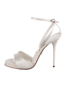 894a7d810a947 Paul Andrew. Satin Strap Sandals