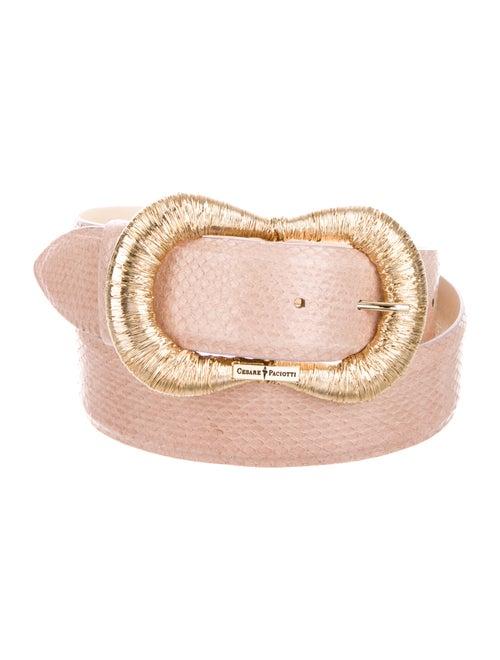 Paciotti Leather Belt Gold