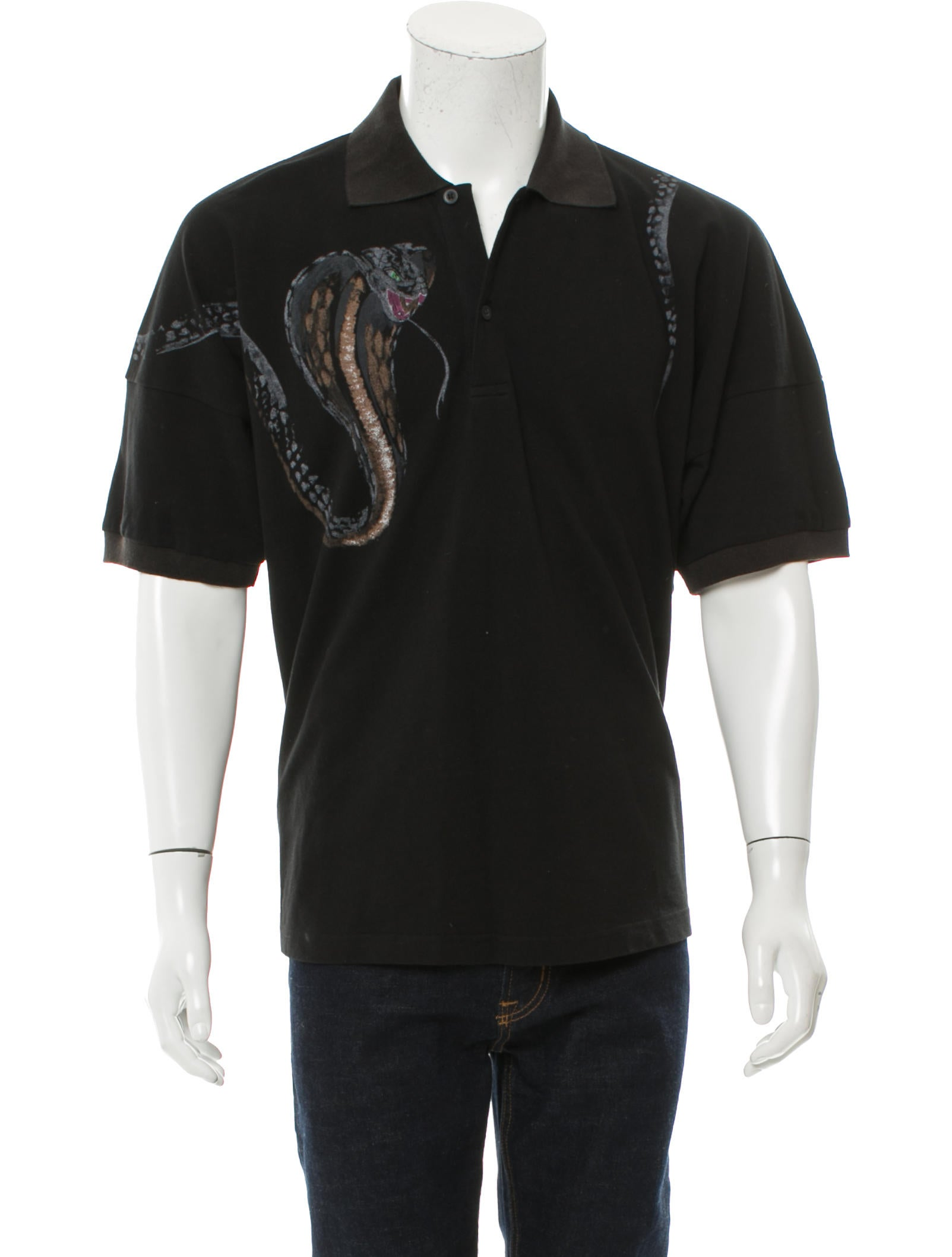 Palm angels snake print polo shirt clothing palma20032 for Polo shirts for printing