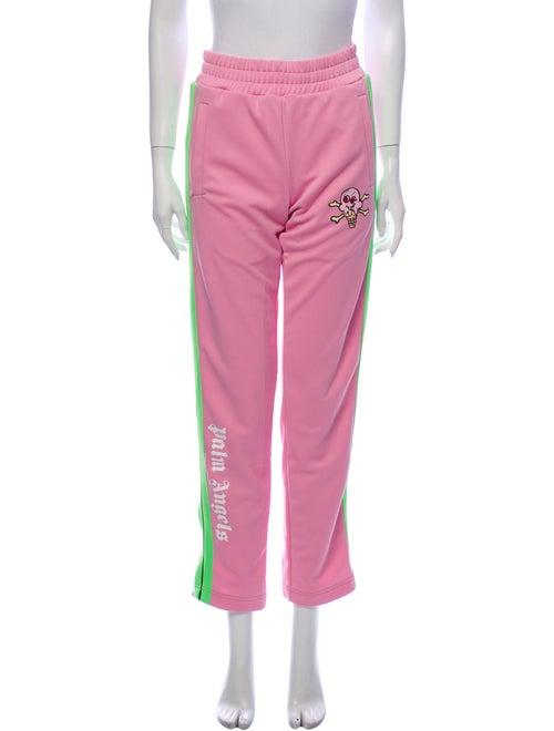 Palm Angels Floral Print Straight Leg Pants Pink
