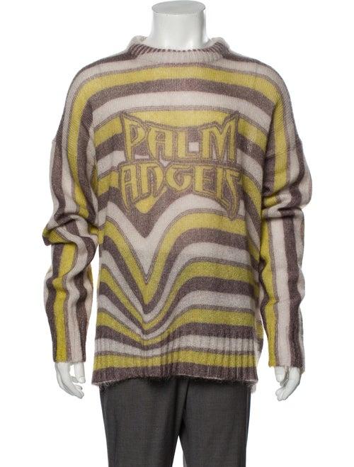 Palm Angels Striped Turtleneck Pullover