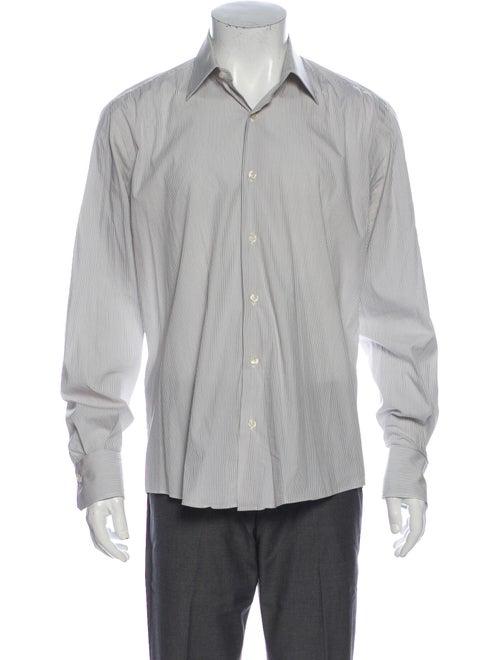 Pal Zileri Striped Long Sleeve Dress Shirt White