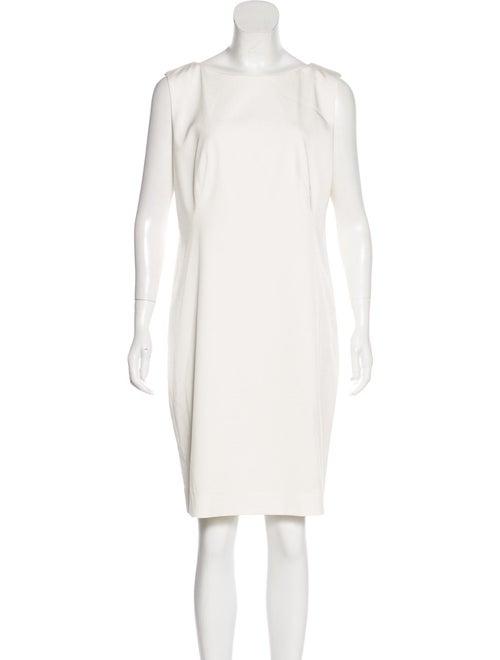 Pamella Roland Sleeveless Sheath Dress White