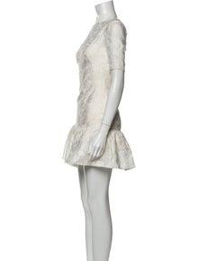Pamella Roland Bateau Neckline Mini Dress