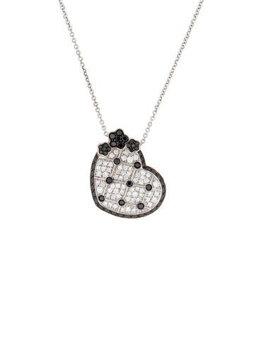 Pasquale Bruni Diamond Heart Pendant Necklace None