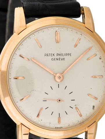 Patek philippe gen ve 18k rose gold watch 2484 pat20007 the realreal for Patek philippe geneve