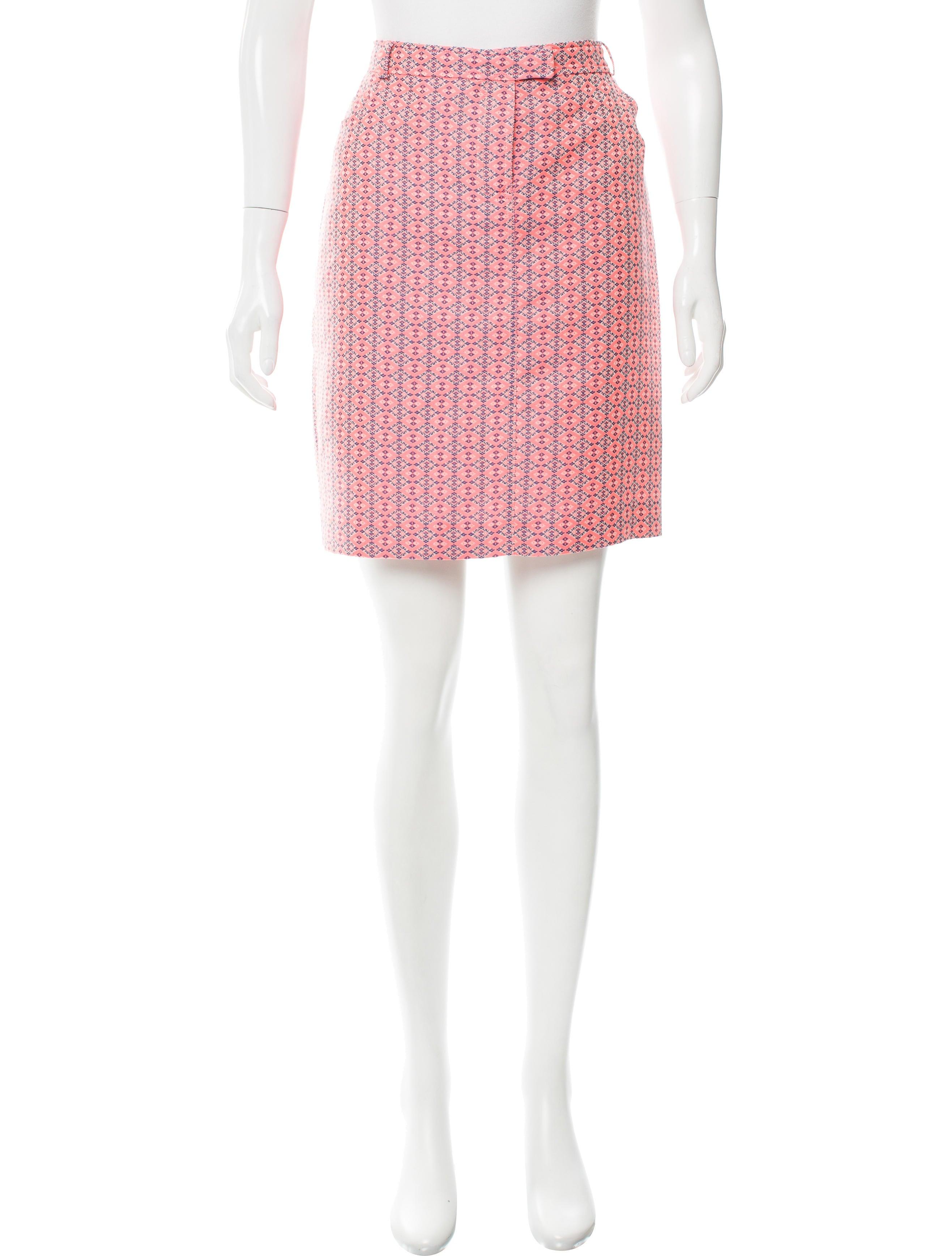 paul joe patterned pencil skirt clothing pau20286