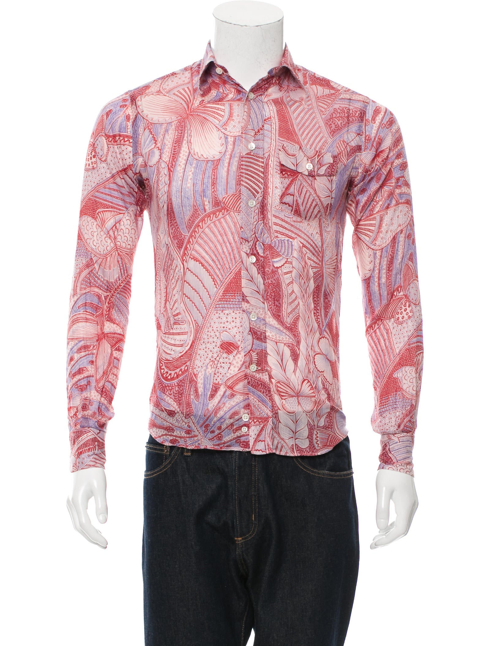 Paul joe floral print button up shirt clothing for Floral print button up shirt