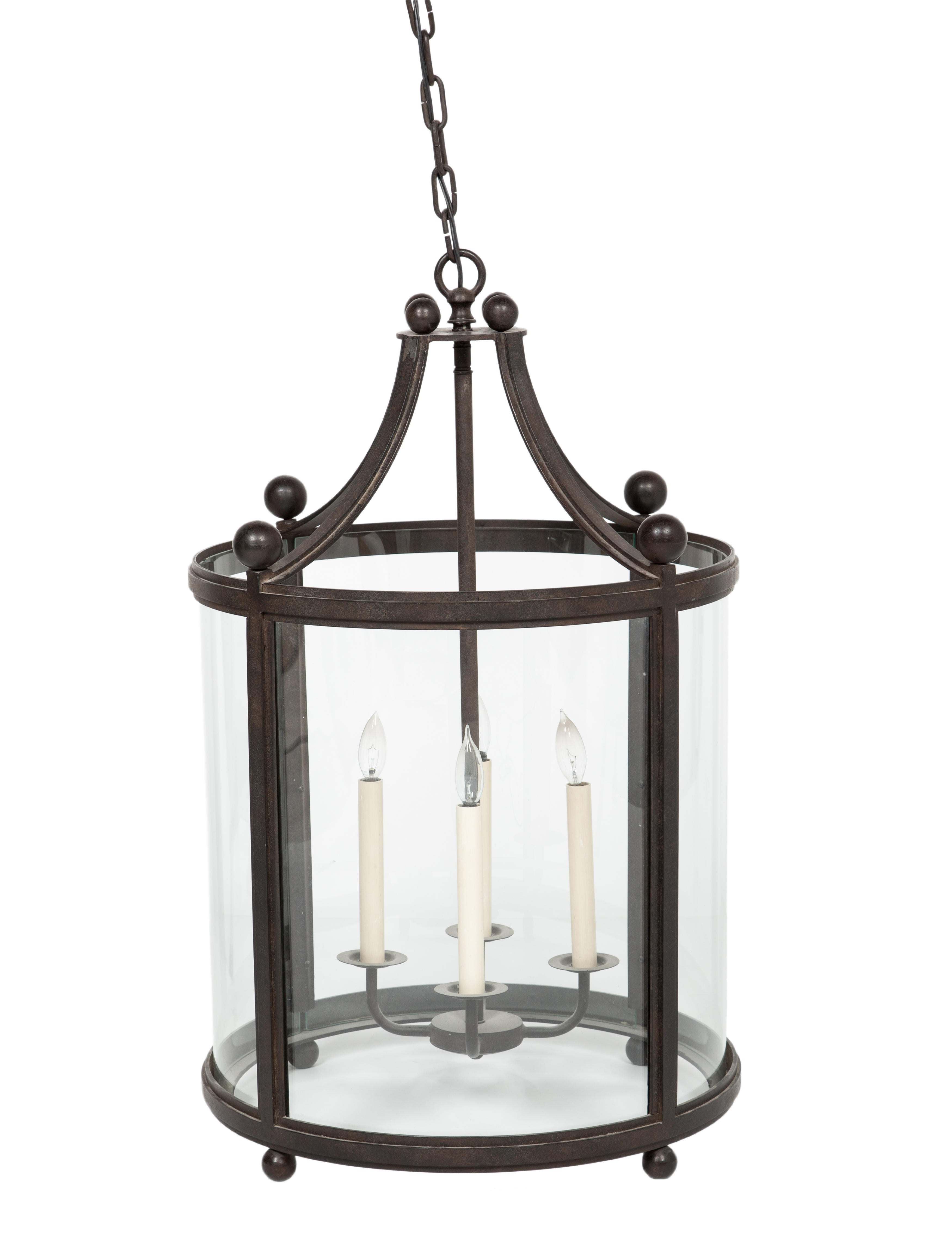 Paul ferrante wrought iron lantern chandelier lighting wrought iron lantern chandelier aloadofball Image collections